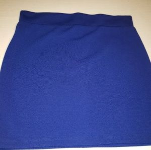 🍭 Blue Foreign Exchange Skirt, size L NWT